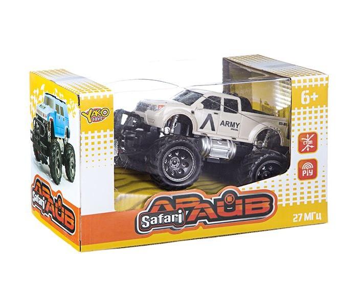 Радиоуправляемые игрушки Yako Джип на радиоуправлении FullFunc Safari Драйв М81624 машинка на радиоуправлении yako toys toys джип пластмасса металл от 6 лет чёрно оранжевый