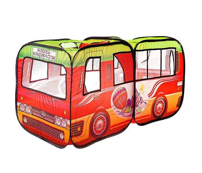 Палатки-домики Yako Солнечное лето Игровой домик палатка-автобус Москва-Владивосток