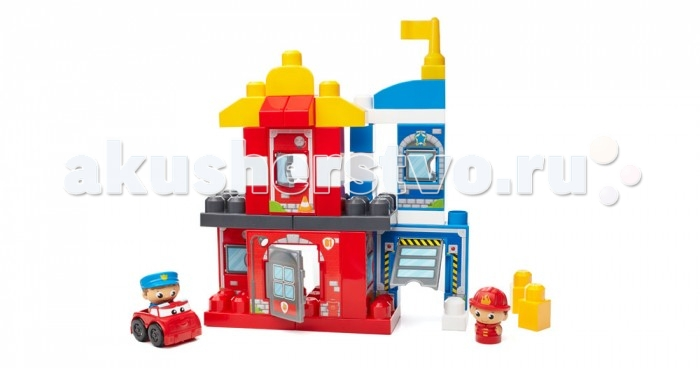 Конструктор Mega Bloks Mattel First Builders Команда спасателей (40 деталей)