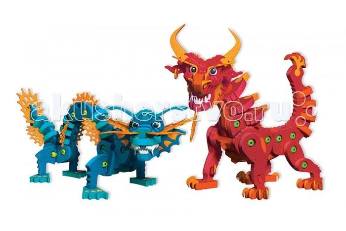 Конструктор Bloco Драконы Воды и ОгняДраконы Воды и ОгняКонструктор Bloco 30552 Драконы Воды и Огня.  В наборе BLOCO Драконы Воды и Огня встретились два могущественных дракона Дракон Стихии Огня и Стихии Воды. Они могут дружить и враждовать, а также объединятся в одного супер дракона, который будет повелевать обеими стихиями. С таким другом ничего не страшно. Яркие, красочные, впечатляющие драконы оживут в руках мастера, который сможет приручить их и отправиться в мир бескрайних приключений.  Из 155 деталей конструктора можно собрать два реалистичных дракона. Детали сета красочные и яркие, они имеют окраску синих, красных и оранжевых тонов. Созданные из экологически чистого полимера, пенополиэтилена, элементы не несут вред для здоровья юного конструктора.  Собирать детали воедино достаточно просто, позволяет это запатентованная система соединений, она не создает особых трудностей маленьким ручкам. Возможности конструктора можно расширить с помощью другого сета, так как их детали полностью совместимы. Полезная игра может приносить массу удовольствий.<br>