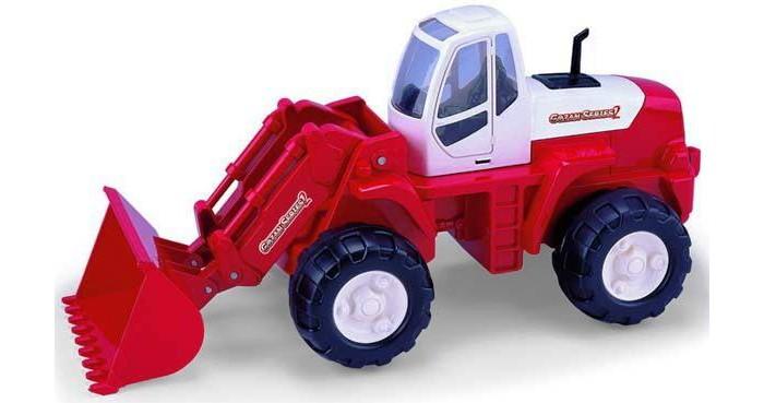 Машины Полесье Трактор-погрузчик машина детская полесье полесье набор автомобиль трейлер трактор погрузчик