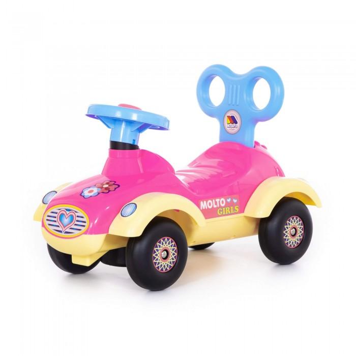 Каталка Molto Автомобиль для девочек СабринаАвтомобиль для девочек СабринаКаталка Molto Автомобиль для девочек Сабрина, обязательно понравится вашей малышке и займет ее внимание надолго.  Особенности: Игрушка абсолютно безопасна для вашего малыша.  Детство - очень важная пора в жизни человека. Именно в эти годы формируется личность, жизненный сценарий, характер, а, следовательно, и судьба человека. Сделайте жизнь ваших детей ярче и счастливее. Изготовлен из высококачественных материалов.<br>