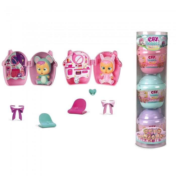 Купить Куклы и одежда для кукол, IMC toys Crybabies Magic Tears Плачущий младенец с домиком и аксессуарами 3 шт.