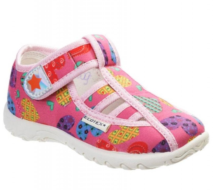 Купить Ecotex Star Туфли открытые дошкольные для девочки в интернет магазине. Цены, фото, описания, характеристики, отзывы, обзоры