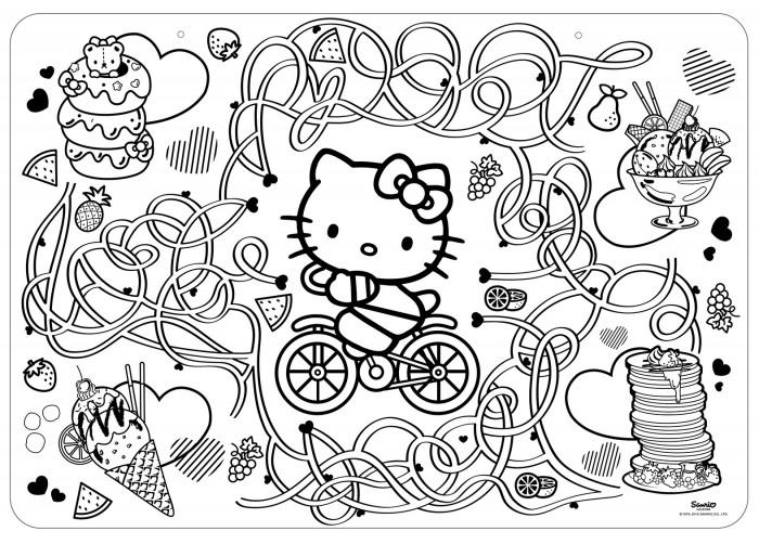 Раскраски ЯиГрушка коврик маленький Hello Kitty 48х33.5 см раскраски яигрушка коврик маленький аксессуары для девочек шляпы 48х33 5 см