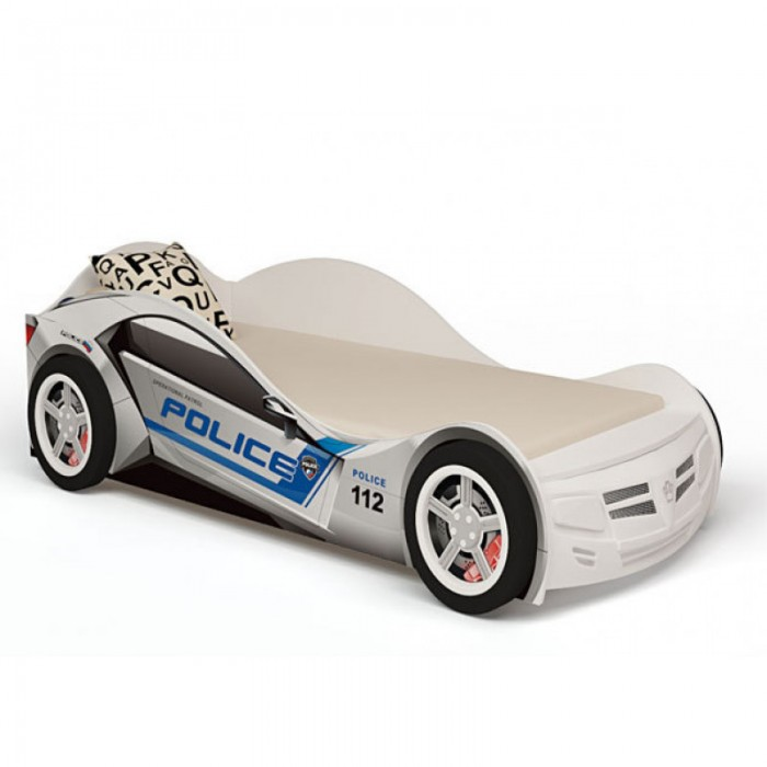 Подростковая кровать ABC-King машина Police 160x90 см
