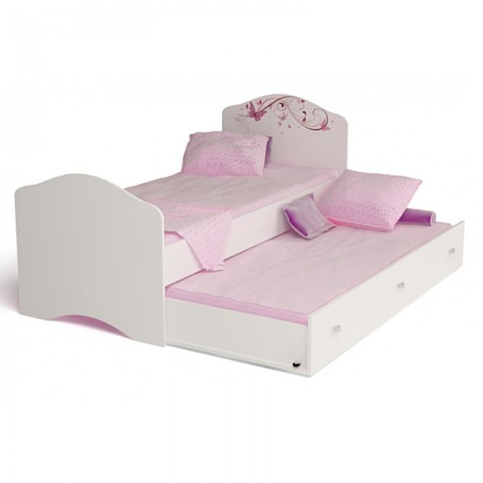 Кровати для подростков ABC-King Фея с рисунком и стразами Сваровски без ящика 160x90 см