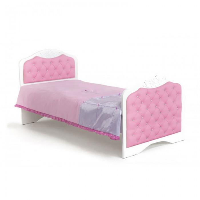 Купить Подростковая кровать ABC-King Princess №3 со стразами Сваровски без ящика 190x90 см в интернет магазине. Цены, фото, описания, характеристики, отзывы, обзоры