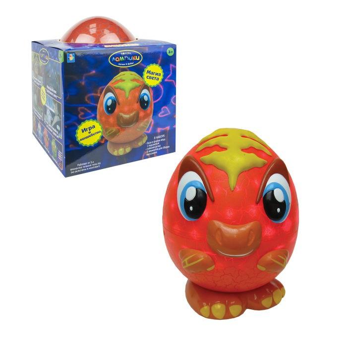Фото - Интерактивные игрушки 1 Toy Лампики Динозавр (8 элеменетов) ночник 1 toy лампики попугай т16360 коробка