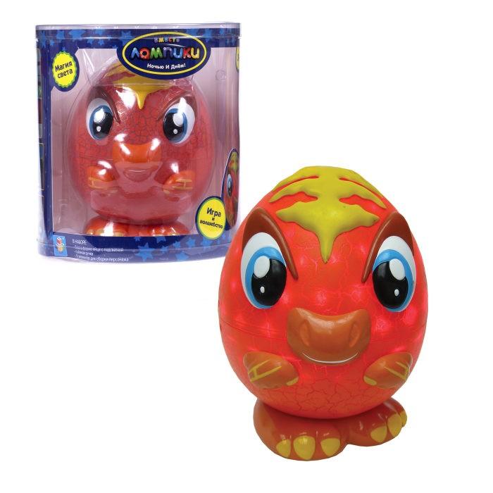 Фото - Интерактивные игрушки 1 Toy Лампики Динозавр (8 элементов) Т16362 ночник 1 toy лампики попугай т16360 коробка