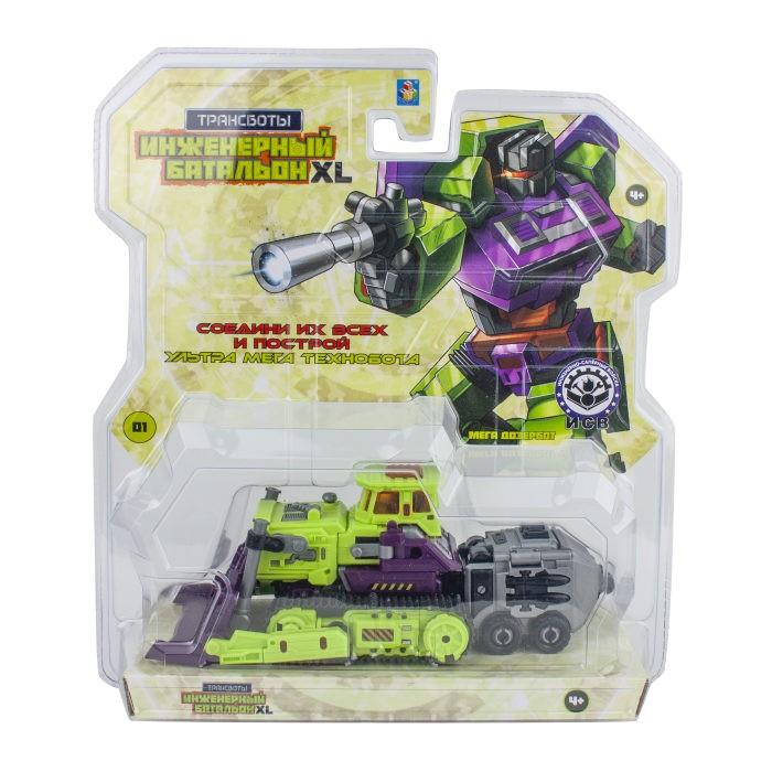 Роботы 1 Toy Трансботы Инженерный батальон XL Мега Дозербот