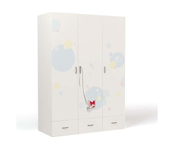 Шкафы ABC-King 3-х дверный Molly туннель для автоматической двери ferplast swing 3 5 16 3 х 5 х 18 4 см белый