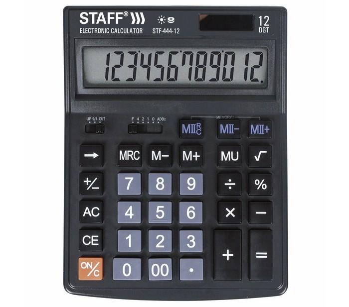 Купить Канцелярия, Staff Калькулятор настольный STF-444-12