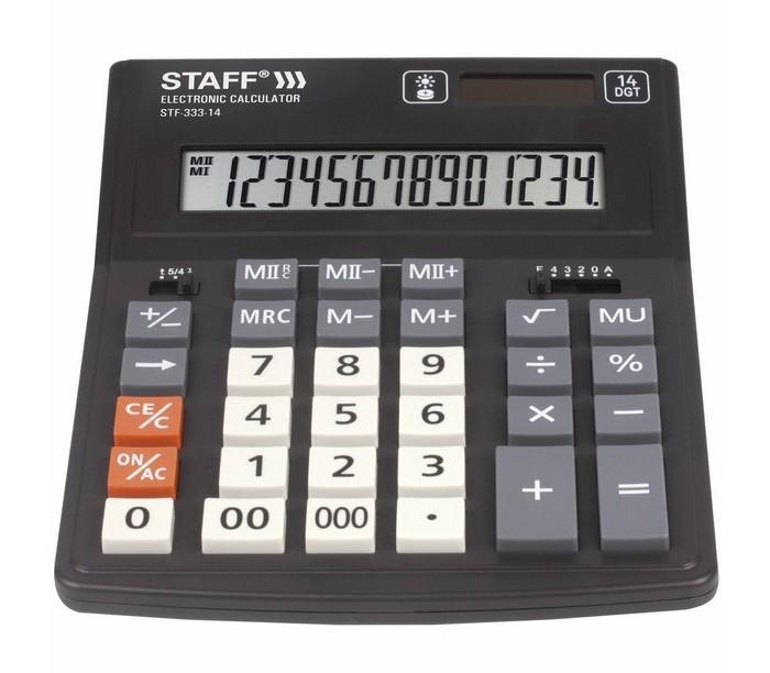 Купить Канцелярия, Staff Plus Калькулятор настольный STF-333-14