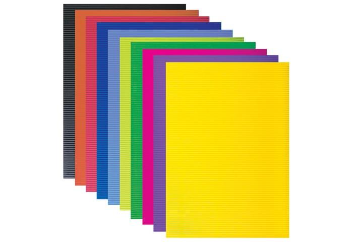 Канцелярия Brauberg Картон цветной А4 гофрированный 10 листов 10 цветов