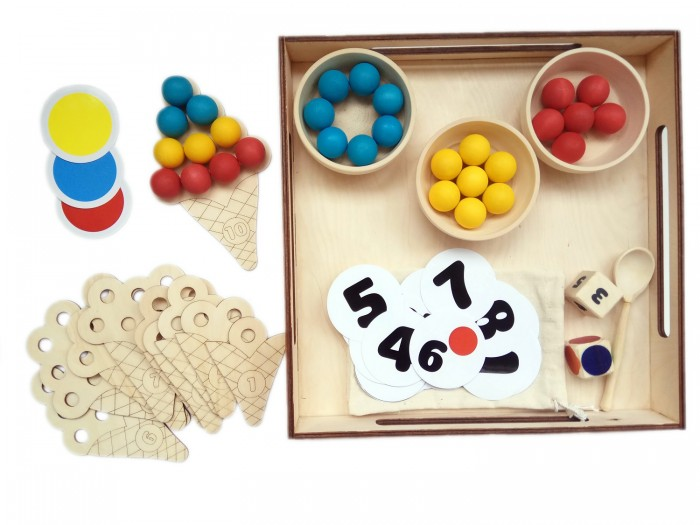 Фото - Деревянные игрушки Уланик Игра Монтессори Сладкий счёт Мини деревянные игрушки уланик игра монтессори грибная поляна 25 грибочков