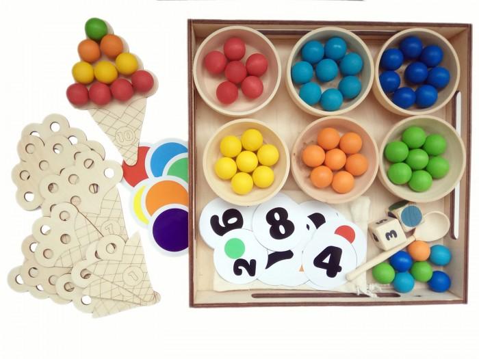 Фото - Деревянные игрушки Уланик Игра Монтессори Сладкий счёт Большой деревянные игрушки уланик игра монтессори грибная поляна 25 грибочков