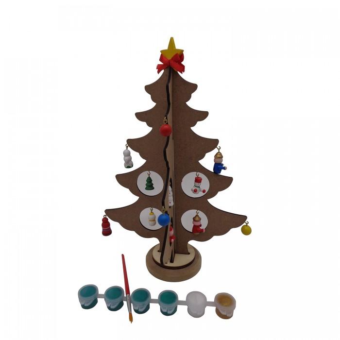 Заготовки под роспись Bondibon Новогодняя ёлочка-раскраска с игрушками недорого