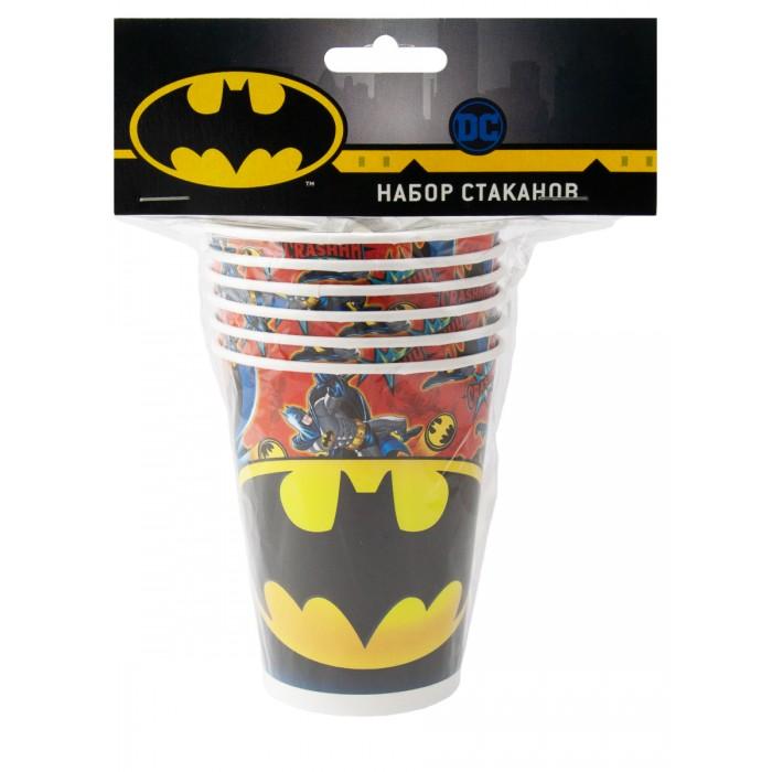 Товары для праздника Nd Play Batman Набор бумажных стаканов 6 шт. 250 мл набор закладок lego batman glam rocker batman easter bunny batman 3 шт