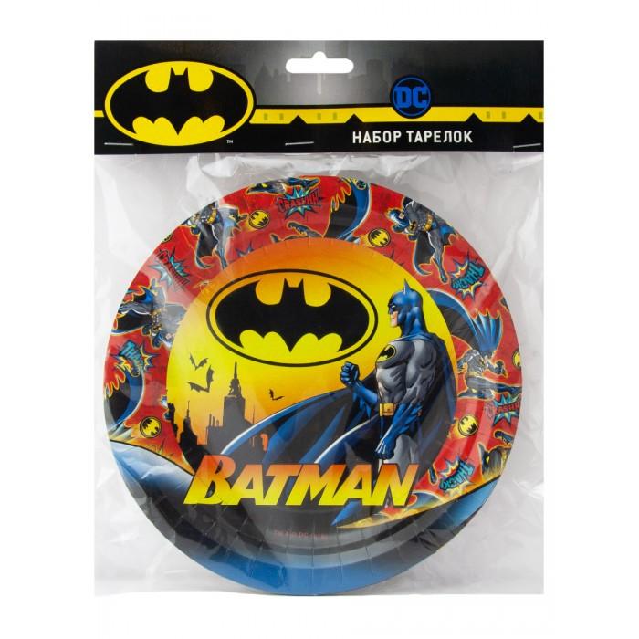 Товары для праздника Nd Play Batman Набор бумажных тарелок 6 шт. набор бумажных форм для кексов красный узор диаметр дна 5 см 50 шт