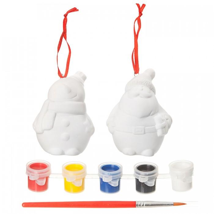 Заготовки под роспись Bondibon Ёлочные украшения Дед Мороз, Снеговик