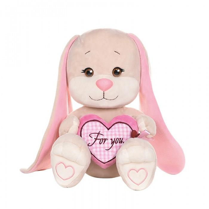 Мягкая игрушка Jack&Lin Зайка с сердцем 25 см фото