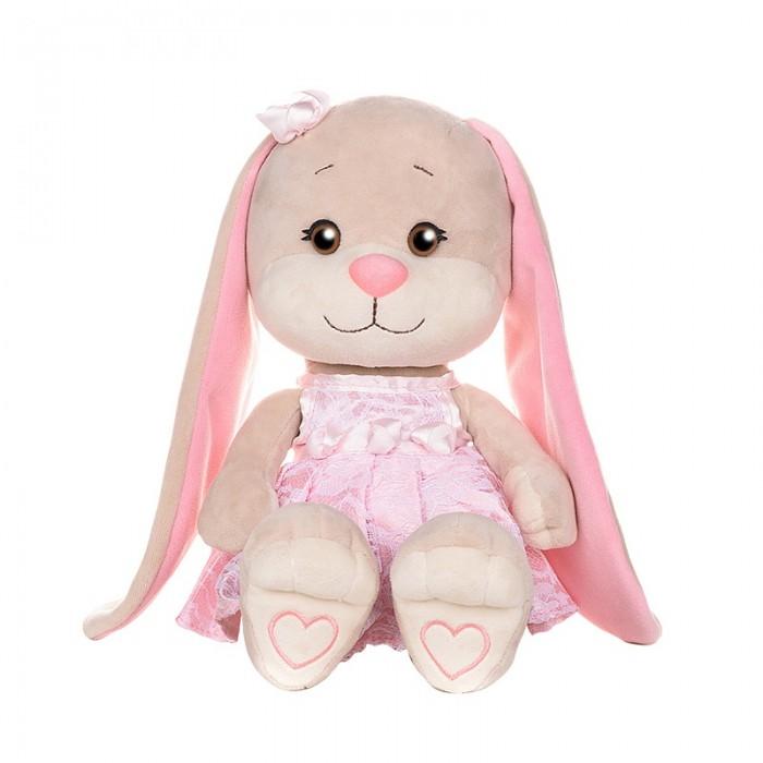 Купить Мягкие игрушки, Мягкая игрушка Jack&Lin Зайка в кружевном платье 25 см