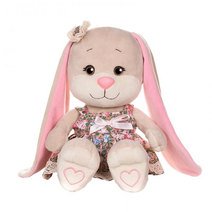 Мягкая игрушка Jack&Lin Зайка в летнем платье с цветным принтом 25 см