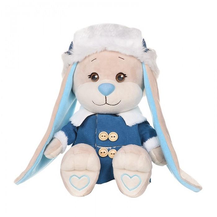 Купить Мягкие игрушки, Мягкая игрушка Jack&Lin Зайчик в дубленке и шапке-ушанке 25 см