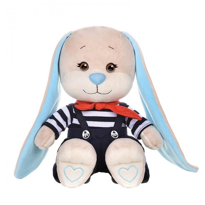 Купить Мягкие игрушки, Мягкая игрушка Jack&Lin Зайчик в полосатой кофточке и штанишках 25 см