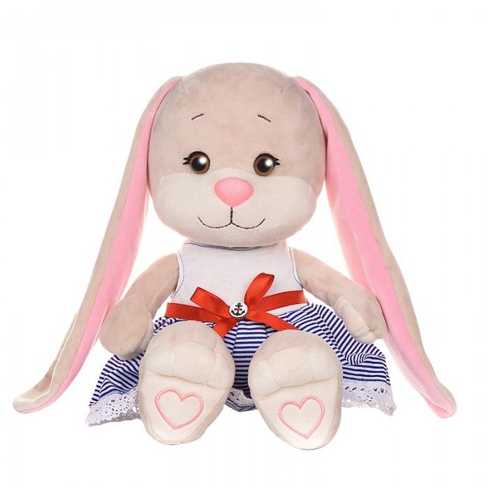 Купить Мягкие игрушки, Мягкая игрушка Jack&Lin Зайка в платье с поясом 25 см