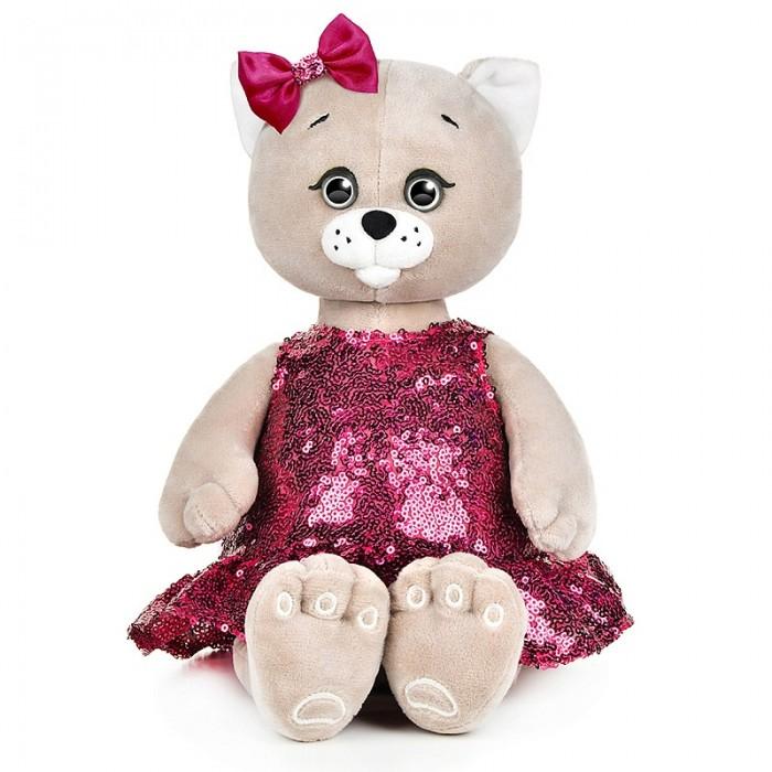 Купить Мягкие игрушки, Мягкая игрушка Колбаскин&Мышель Мышель в платье с пайетками и бантиком 25 см