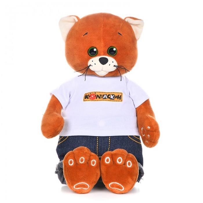 Мягкие игрушки КолбаскинМышель Колбаскин в джинсах и футболке 20 см