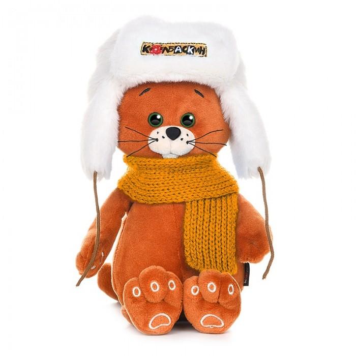 Мягкая игрушка Колбаскин&Мышель Колбаскин в шапке и шарфе 20 см