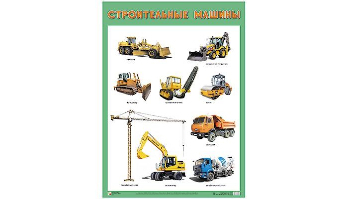 Обучающие плакаты Мозаика-Синтез ПЛ Строительные машины