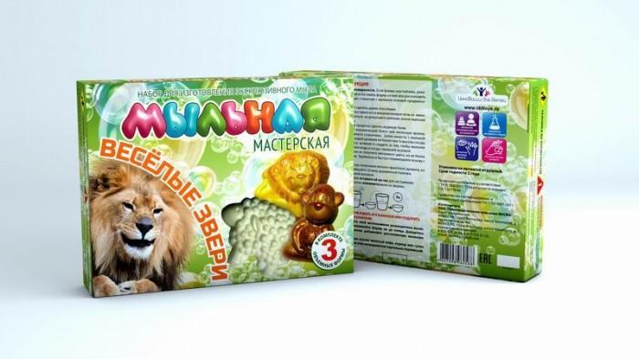Наборы для творчества Инновации для детей Набор Мыльная мастерская Веселые звери луч набор для изготовление мыла машины