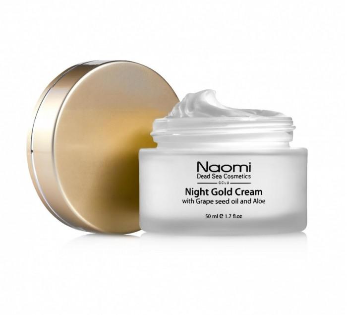 Naomi Ночной золотой крем с маслом косточек винограда и алоэ 50 мл фото