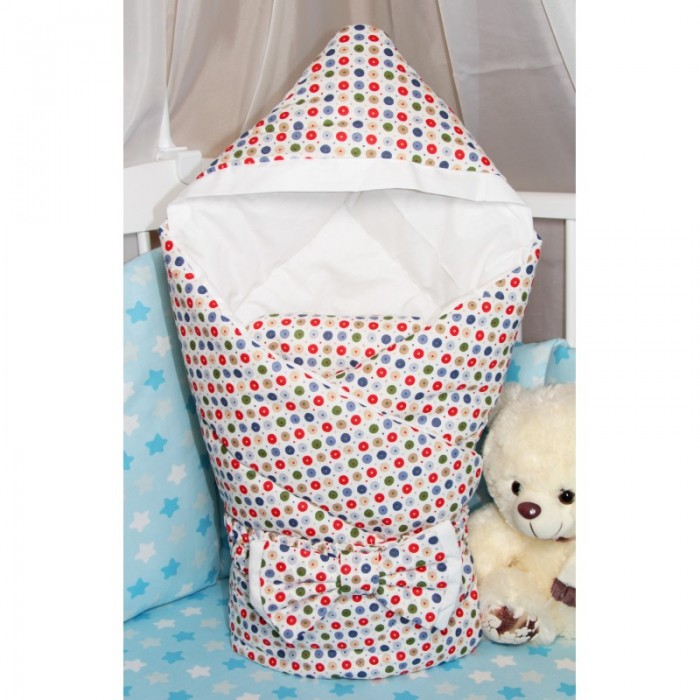 Фото - Конверты на выписку CherryMom Конверт-одеяло с капюшоном Конфетти (демисезон) cherrymom конверт одеяло cherrymom звезды на синем звезды на сером зима синий