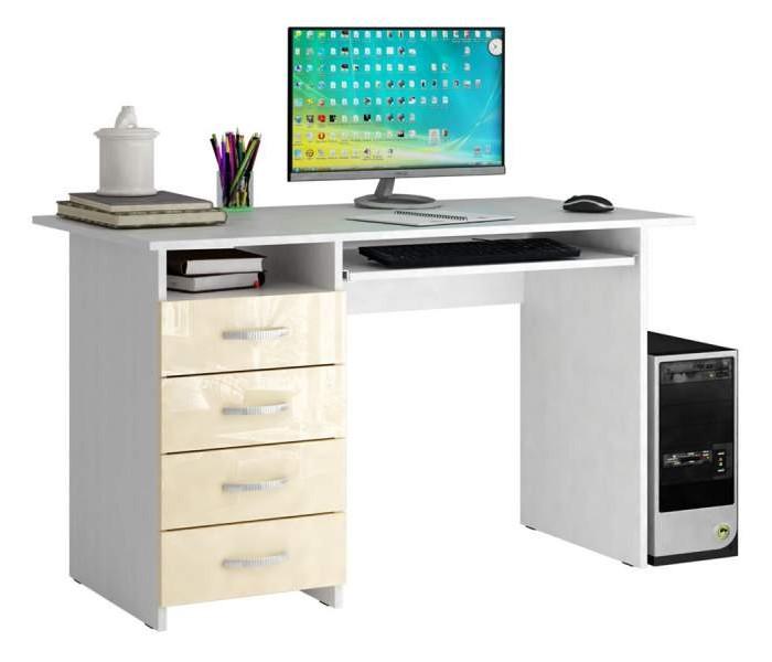 Купить MF Master Стол компьютерный Милан 3 Глянец (основание белое) в интернет магазине. Цены, фото, описания, характеристики, отзывы, обзоры