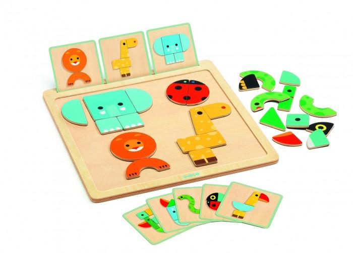 Купить Деревянные игрушки, Деревянная игрушка Djeco Развивающая игра ГеоБейсик