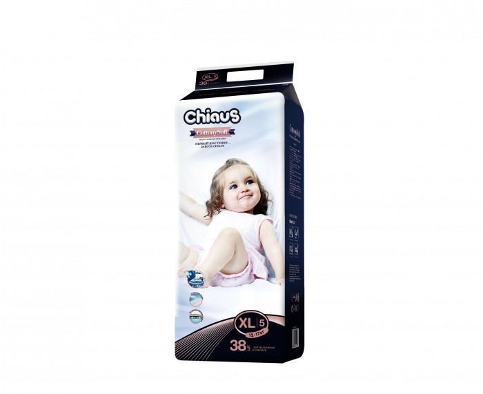 Chiaus Подгузники-трусики Cottony Soft XL (12-17 кг) 38 шт.