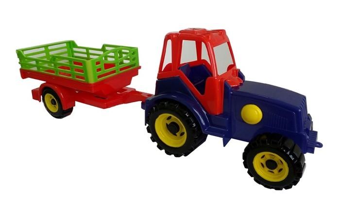цена на Машины Игрушки Поволжья Трактор с прицепом ТР002