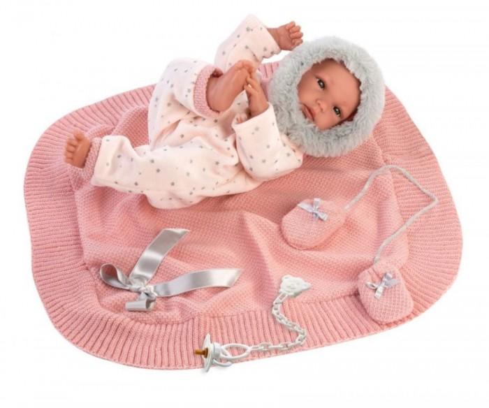 Куклы и одежда для кукол Llorens Кукла младенец в розовом c одеяльцем 35 см