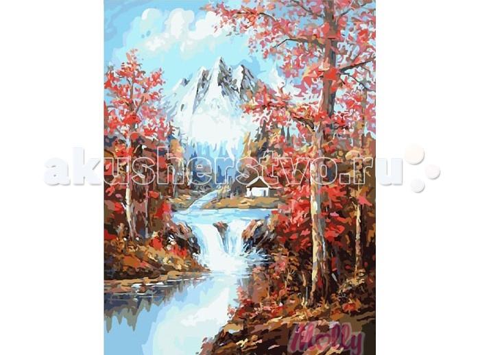 Картины по номерам Molly Картина по номерам Весна в горах 40х50 см molly мозаичная картина зеленая долина 40х50 см