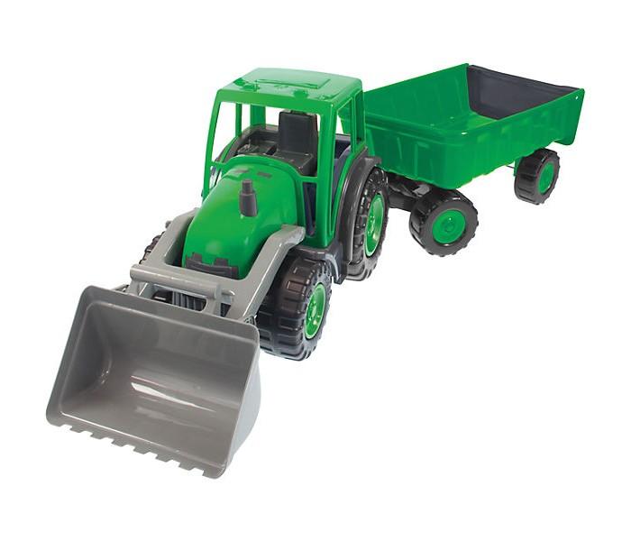 Mochtoys Трактор большой с ковшом и прицепом фото