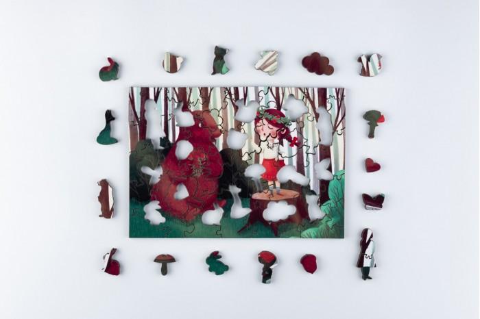 Деревянные игрушки Mr.Puzz пазл В лесу (63 детали)