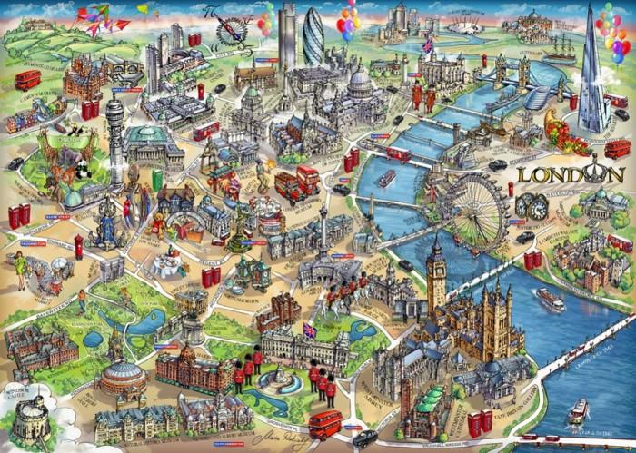 Пазлы Educa Пазл Карта Лондона 500 деталей