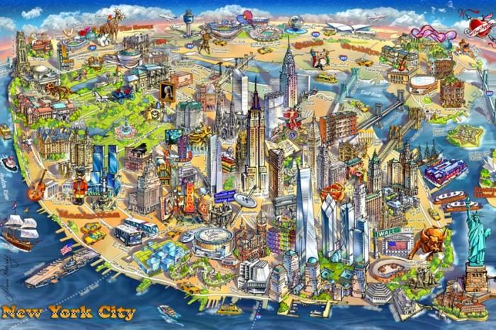 Пазлы Educa Пазл Карта Нью-Йорка 500 деталей карта нью йорка