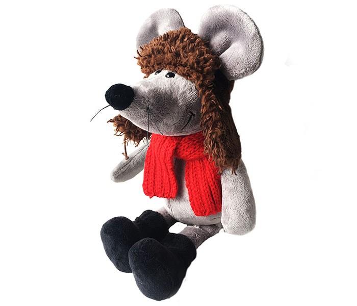 Картинка для Мягкая игрушка SofToy Мышь в ушанке 26 см