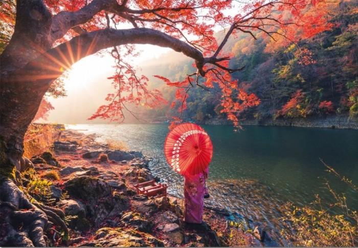 Фото - Пазлы Educa Пазл Восход солнца на реке Кацура Япония 1000 деталей конструтор стакадуз 68 деталей